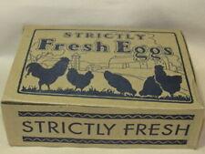 20 Vintage Strictly Fresh Eggs One Dozen Cardboard Box From A Mass Farm Unused