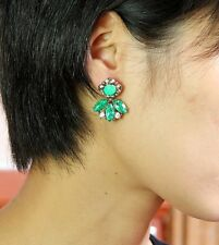 Rings`Ears Flower Green Class Retro Vintage Style Evening Marriage DD 3