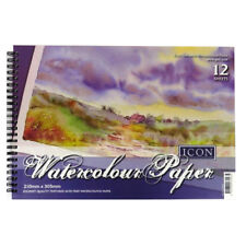 A4 Landscape Watercolour, Drawing, Sketching Book, Elite 300gsm Textured Paper