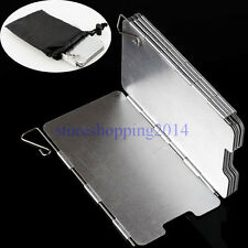 9 Plates Aluminum Foldable Camping BBQ Picnic Cookout Stove Wind Shield Screen