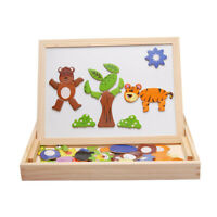 Wooden Magnetic Drawing Board Kids Early Educational Learning Jigsaw Puzzle  S
