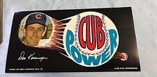 DON KESSINGER 1969 Cub Power Sticker (s) 1969