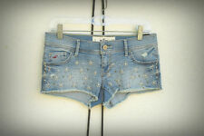 NWT Hollister Size 5 Studs Destroyed Hippie Chic Hot Mini Denim Short Shorts