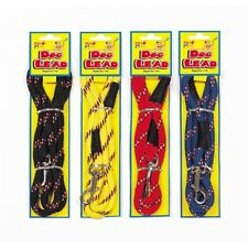 1 X 1m Pets at Play Tough Nylon Dog Lead Metal Attach Clip - Various Colours