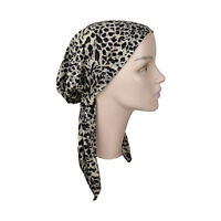 Pretied Bandana Soft Tan Leopard  Headscarf  Chemo Modest Womens Head Cover