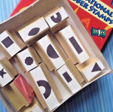 Educational Rubber Stamps Teach Kids  Alphabet Numbers Words w Shapes Easy Grip