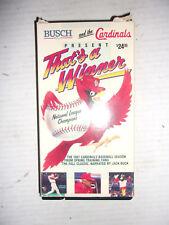 That's a Winner (1987) - VHS Video Tape - St. Louis Cardinals - MLB Baseball