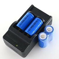 Useful 16340 Rechargeable Li-ion Battery Charger For LED Flashlight-