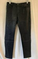 JOE's JEANS The Skinny Ankle Jeans Black Waxed Coated Denim Size 29 Pants