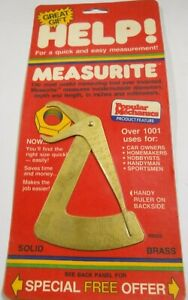 Dorman Help Measurite Universal Micrometer Caliper Measuring Tool - Solid Brass