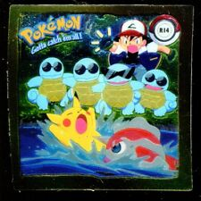 POKEMON STICKER ENGLISH CARD 50X50 1999 GOLD N° R14 PIKACHU SQUIRTLE GOLDEEN