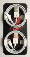 X2 GENUINE ORIGINAL OEM APPLE IPHONE 7, 7 PLUS, 6+, 5S LIGHTNING SYNC USB CABLE
