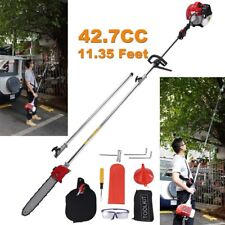 11.35Ft Gas Pole Saw 12Inch Bar Chain Chainsaw Extension Bar Tree Trimmer Pruner