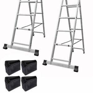 4pcs Folding Ladder Feet Covers Wear Resistant Non-slip Ladder Pads