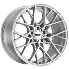 Staggered TSW Sebring F: 19x8.5, R: 19x9.5 5x114.3 Silver/Mirror Wheels Rims