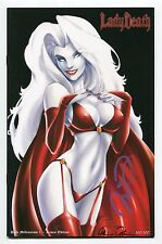 Lady Death Dark Millennium #1 RAVEN Variant Mike Debalfo Cover Signed 100/100