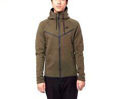Nike Tech Fleece Full-Zip Hoodie Olive Heather Green 805144-222 Men's Size S