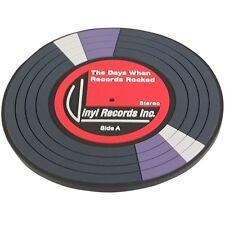 NEW Retro PVC Drinks Mat Coaster Gift Vinyl Record Design