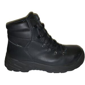 NEW Cosmas Black Leather Boots 11.5 Antistatic/Oil/Acid Resistant Soles 6-Eye