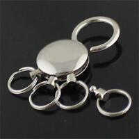 Belt Keychain On Pants Holder 4 Ring Keyring Detachable Keychain Key Chain
