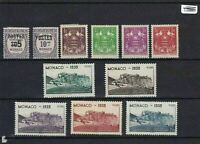 MONACO 1939 MOUNTED MINT SET AND OTHER STAMPS  REF 3041
