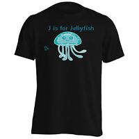New J For Jellyfish Funny  Men's T-Shirt/Tank Top l394m
