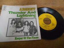 "7"" Rock Argent - Thunder And Lightning / Keeper (2 Song) CBS / EPIC REC GERMANY"