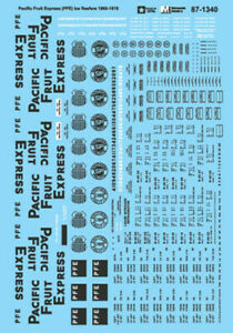MicroScale 871340 Decal H0 - Pacific Fruit Express Ice Reefer 1960-78 (87-1340)