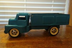 """Vintage 1950's-60's Heavy Tin Toy Truck 11 1/2"""" Long Unmarked"""