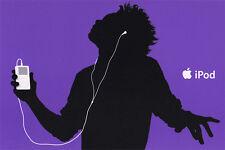 iPod Werbekarte in LILA  NEU  Merchandising/Werbung  Original Apple Hochglanz