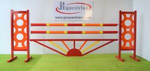 Red,Orange and Yellow Sunrise Aluminium Show jump Fillers-For Showjumping