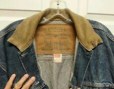 Vintage Ladies Levi Chore Jacket Size Medium Extra Long Large Levi Label Faded