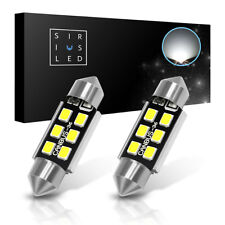 SiriusLED 2x DE3425 6418 NO ERROR 36mm LED License Plate Light Bulbs 400 Lumen