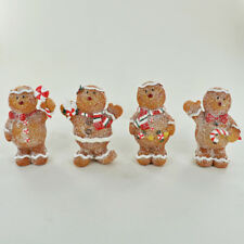 Christmas Gingerbread Family Ornaments Small Novelty Figures for Xmas 80671