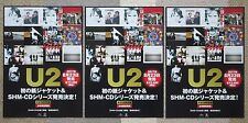 Last 2 sets! U2 Japan Promo flyer x 3 set Official mini poster 29x21cm Free Ship