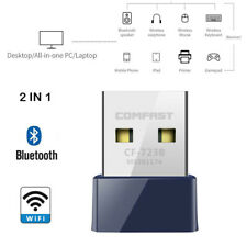 Nano USB & Bluetooth Wireless WiFi Network Receiver Adapter Dongle for PC Laptop