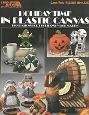 Holiday Time in Plastic Canvas Pattern Leaflet Thanksgiving Halloween LA1092 NEW
