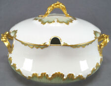 GDM Limoges CHF100 Pattern Green & Gilt Round Tureen Circa 1891 - 1900
