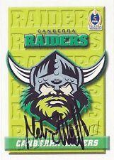 ✺Signed✺ 2002 CANBERRA RAIDERS NRL Card MATTHEW ELLIOTT Daily Telegraph
