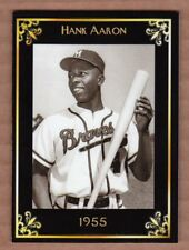 Hank Aaron '55 Milwaukee Braves MC Heritage Series serial # /50 mint condition
