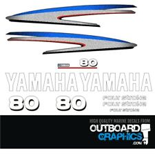 Yamaha 80hp 4 stroke outboard decals/sticker kit