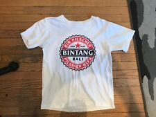 BALI Bintang Beer short sleeved cotton adult t shirt small white