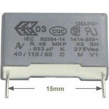 5 St Entstörkondensator AV MKP X2 0,033µF 33nF 275/300VAC RM15 Rohs konform