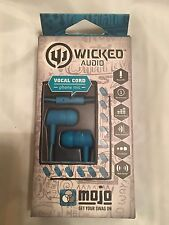 AUTHENTIC + NEW Wicked Audio WI2256 IN-ear MOJO EARbuds with mic Blue TEAL