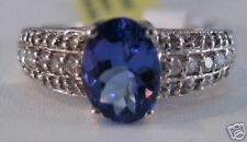 14K White Gold 1.58 Carat Tanzanite & Diamond Ring