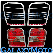 06-10 DODGE CALIBER Taillight Tail Light trim Bezel+RED LED light bar Cover