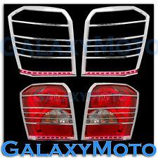 06-10 DODGE CALIBER Taillight Tail Light trim Bezel+RED LED light bar Cover