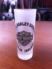 Dublin Harley-Davidson Clear-Frosted Bar&Shield Shot Glass