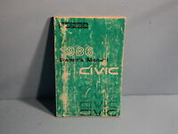 86 1986 Honda Civic owners manual