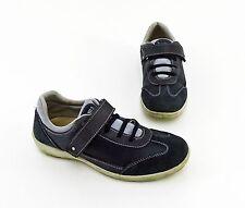 Sneaker Bama Echtform Klettverschluss Halbschuhe Echtleder Textil blau Gr. 36
